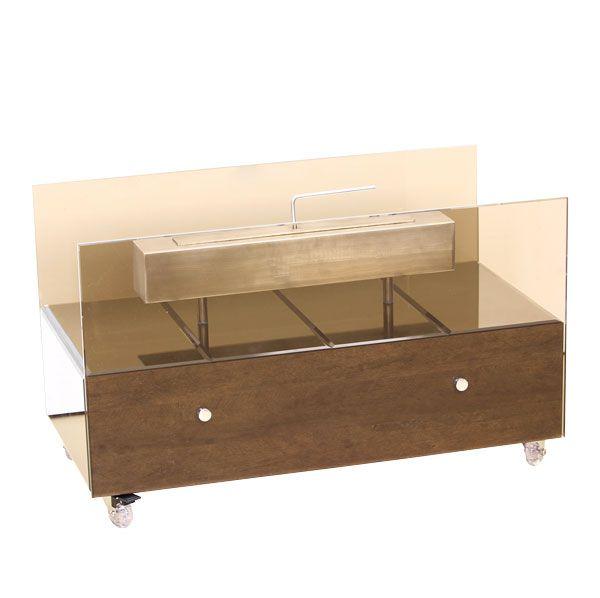 Lareira Ecológica Grande Cool Bronze Com Espelhos Fullway  45x75x40cm  - Arrivo Mobile