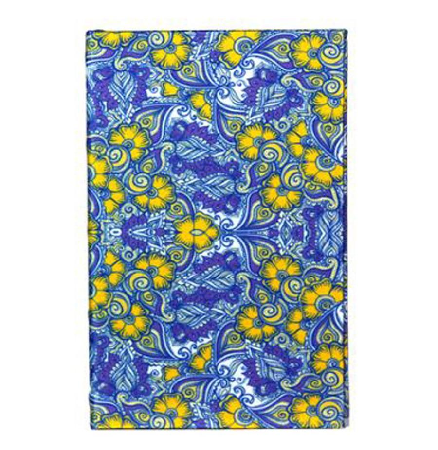 Livro Caixa Book Box Papel de Parede Florido Azul 21X14X3CM  - Arrivo Mobile