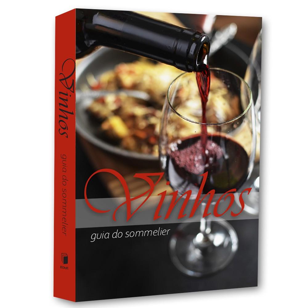 Livro Caixa Decorativo Book Box Vinhos   - Arrivo Mobile