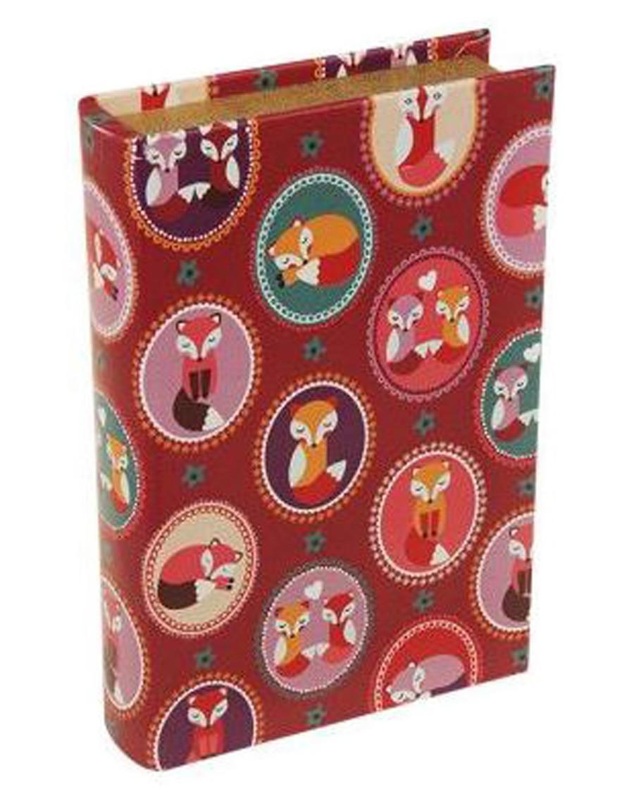 Livro Caixa Raposa Repetida Telha 24x15x5cm  - Arrivo Mobile