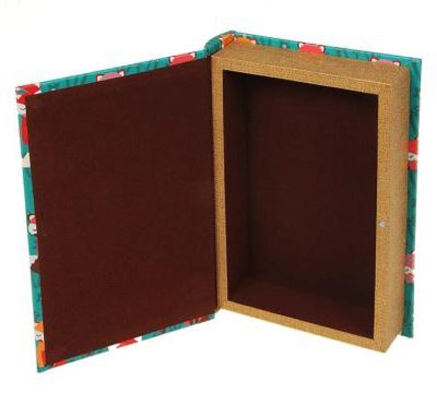Livro Caixa Raposa Repetida Verde 24x15x5cm  - Arrivo Mobile