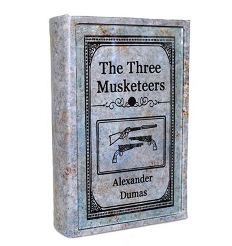 Livro caixa The Three Musketeers 25x17x6cm  - Arrivo Mobile