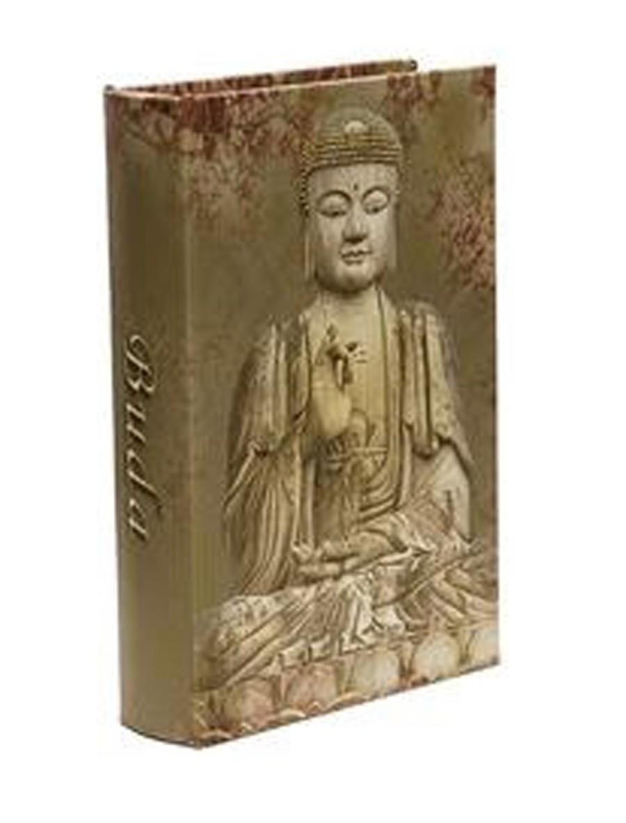 Livro Refúgio Divino Buda 24x16x8cm  - Arrivo Mobile