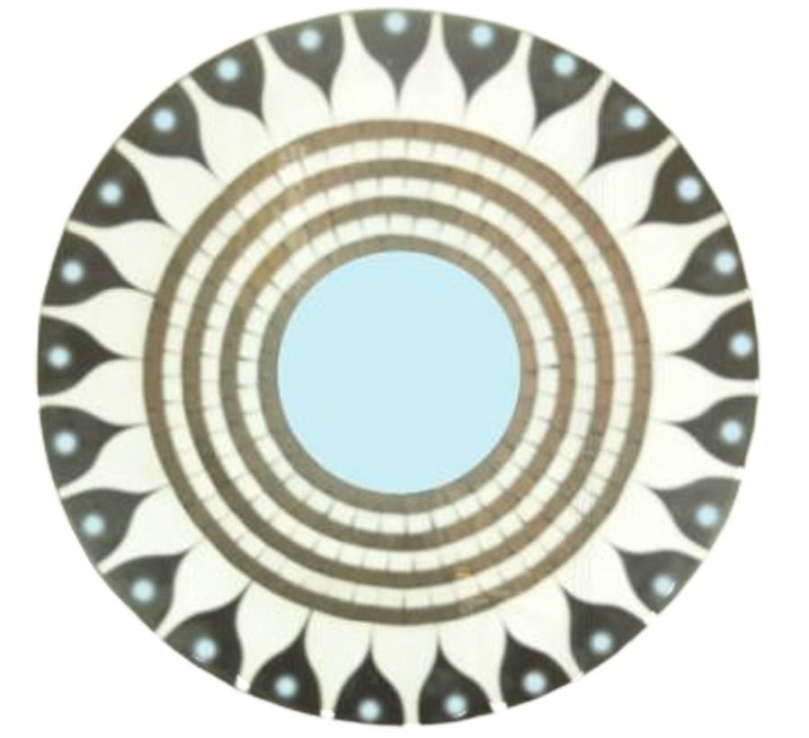 Mandala Prt/ Brc/ Sol Mosaico Madeira Bali Imp  - Arrivo Mobile
