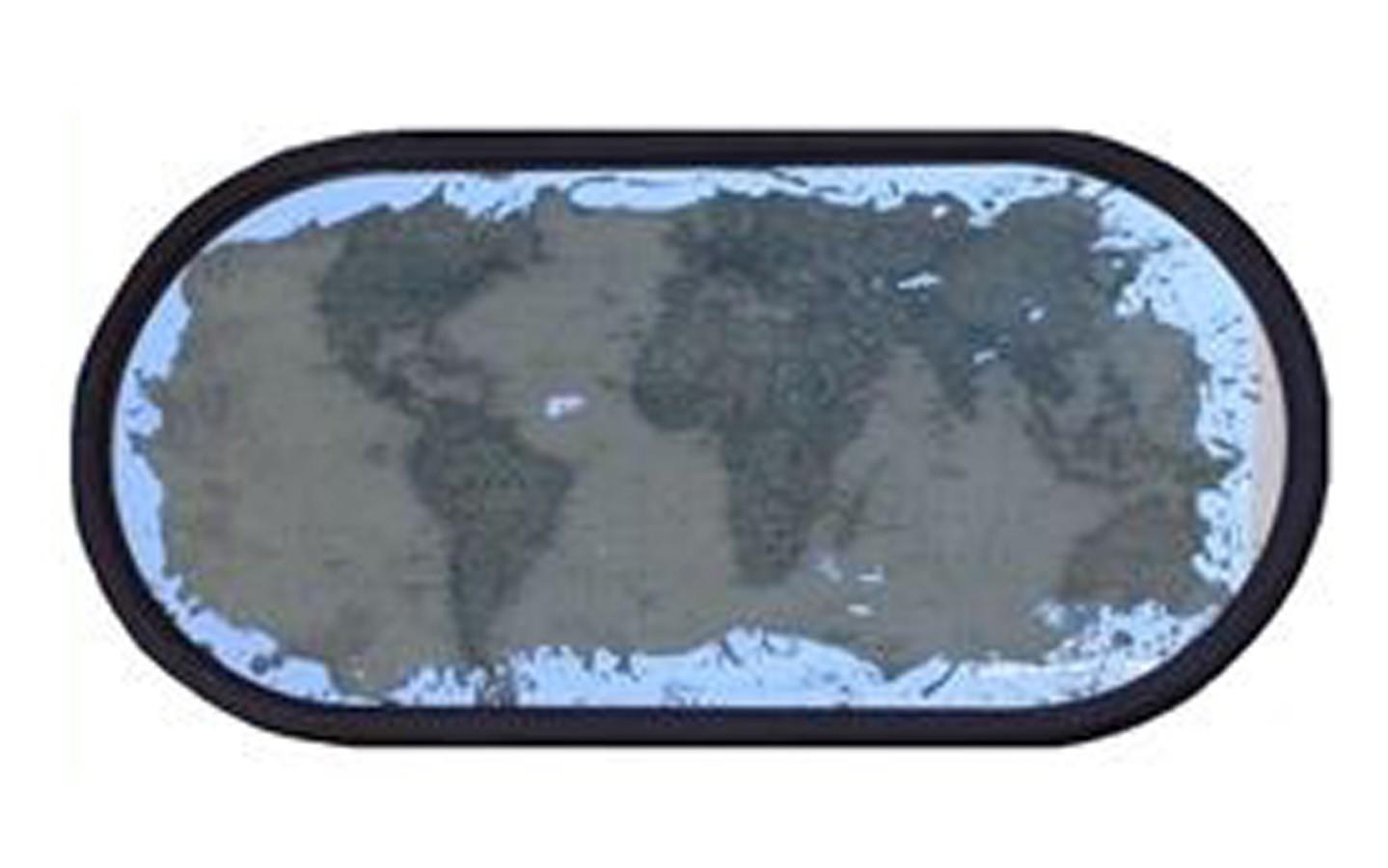 Mapa em madeira e Vidro Tabaco  - Arrivo Mobile