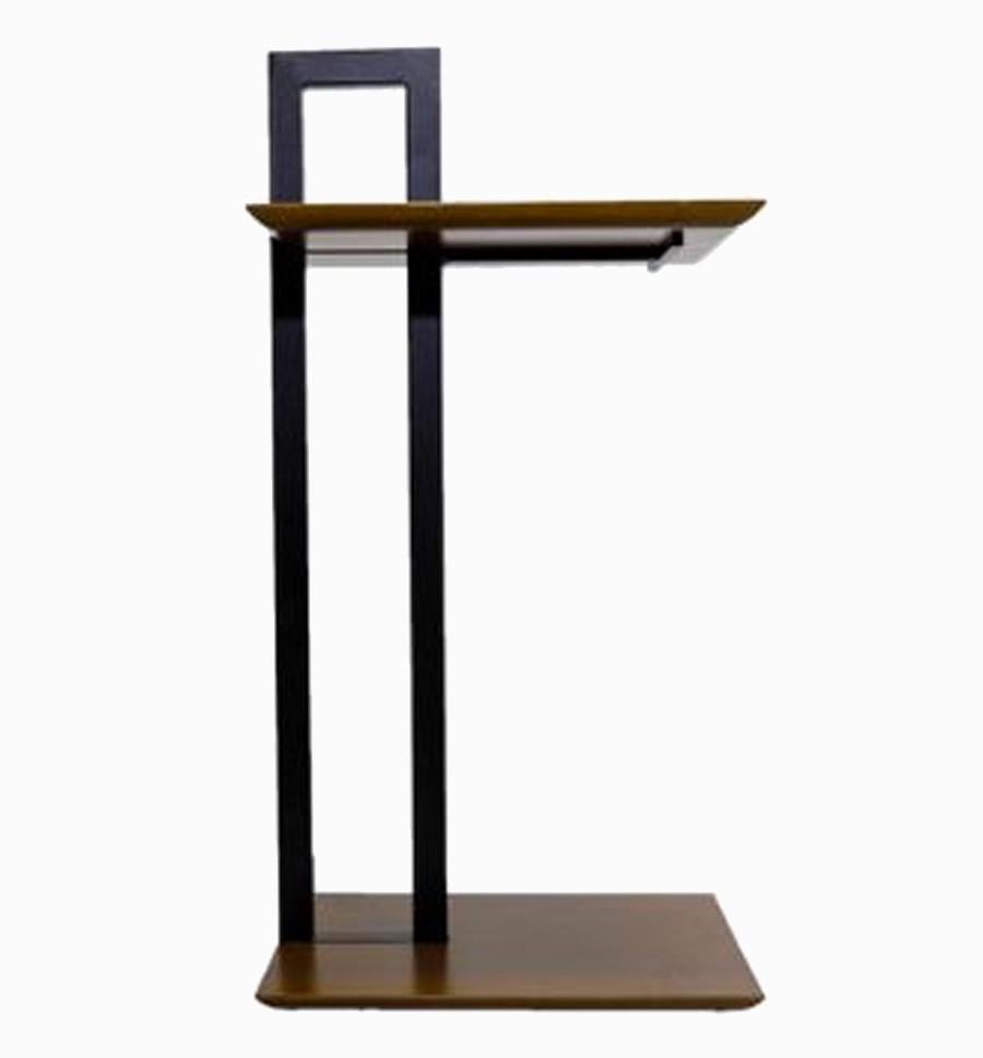 Mesa Auxiliar Bauhaus Retangular Madeira 80x40x30cm  - Arrivo Mobile