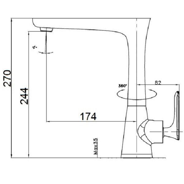 Misturador Monocomando Cozinha Preto Novacci  - Arrivo Mobile