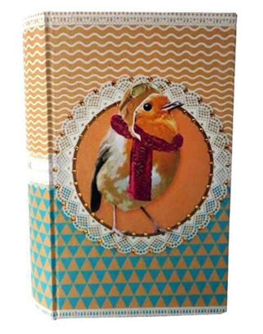 Pet Pop - Livro Cofre Pássaro 21x12x4cm  - Arrivo Mobile