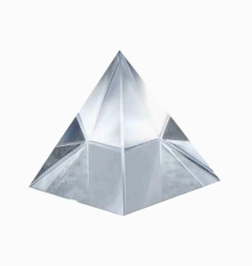 Pirâmide De Cristal Branca 100mm Imp  - Arrivo Mobile
