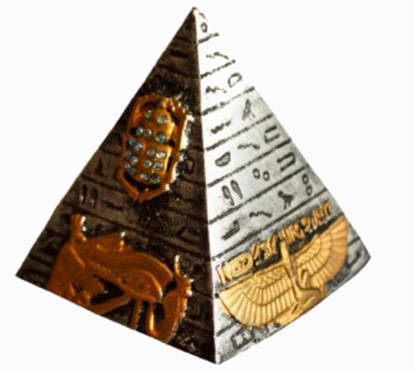 Pirâmide Prata Egípcia M De Resina  - Arrivo Mobile