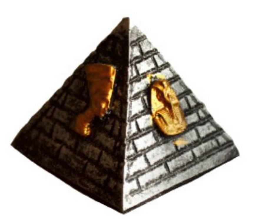 Pirâmide Prata Egípcia P De Resina  - Arrivo Mobile