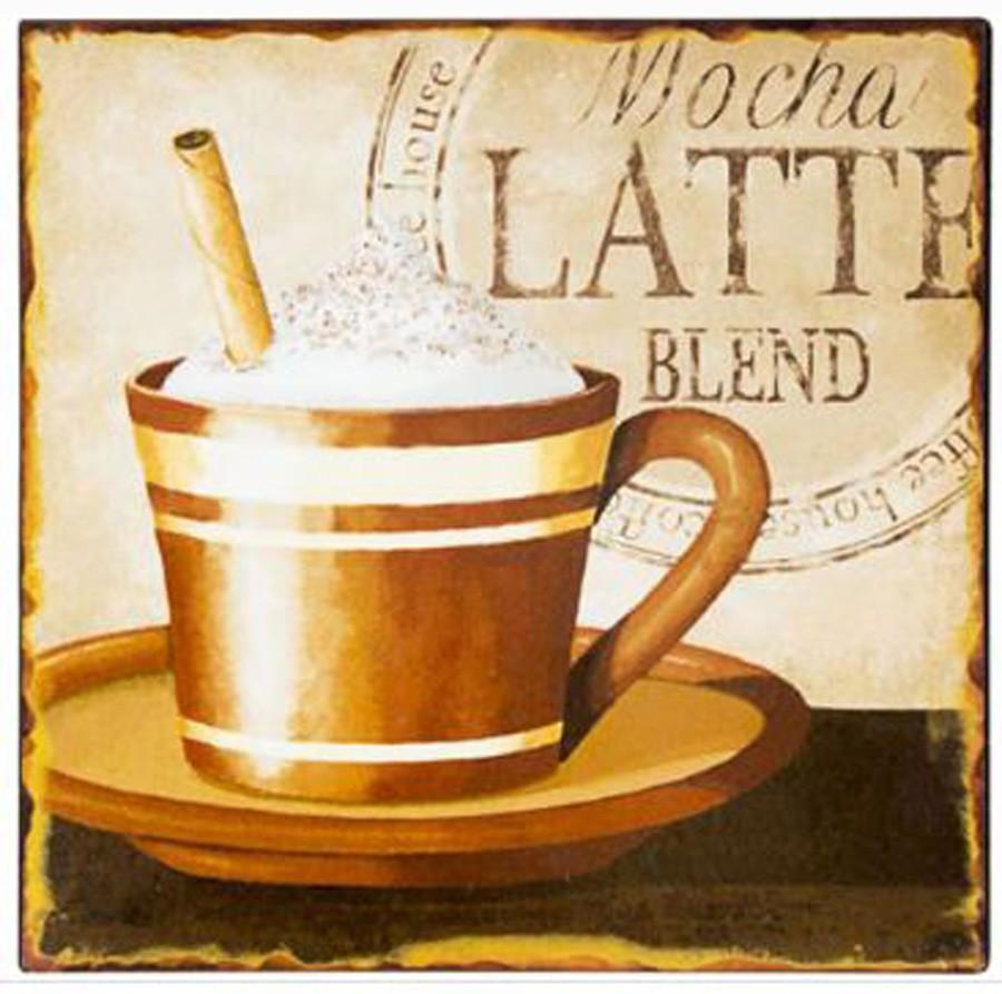 Placa De Metal Mocha Latte Oway 25x25cm  - Arrivo Mobile