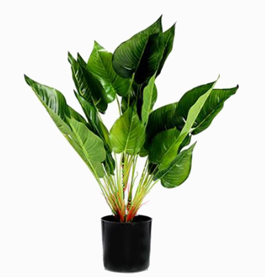Planta Artificial Antúrio Pvc Com Vaso Preto 40cm  - Arrivo Mobile