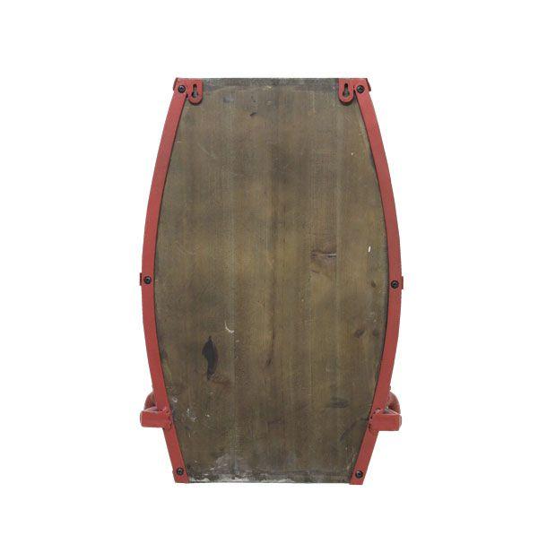 Porta Chapéu De Parede Barrica Com 3 Ganchos Oldway 46x29x21cm  - Arrivo Mobile