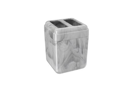 Porta-Escova Cube Cor Mármore Branco  - Arrivo Mobile