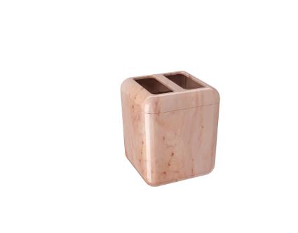 Porta escova Cube Rose  8,5x8,5x10,5cm  - Arrivo Mobile
