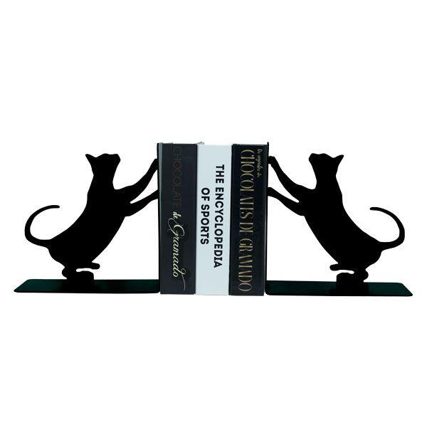 Porta Livro Em Ferro Gatos  - Arrivo Mobile