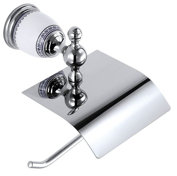 Porta Papel Higiênico Branco/Cromado  - Arrivo Mobile