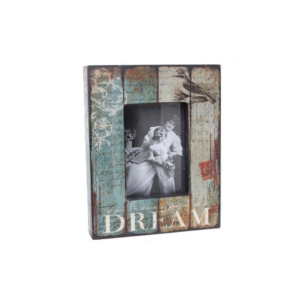 Porta-retrato Caixa Dream Envelhecido Em Madeira Foto 10x15  - Arrivo Mobile