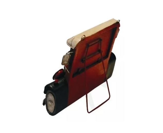 Porta Retrato Calhambeque Vermelho Oldway 22x22x7cm  - Arrivo Mobile