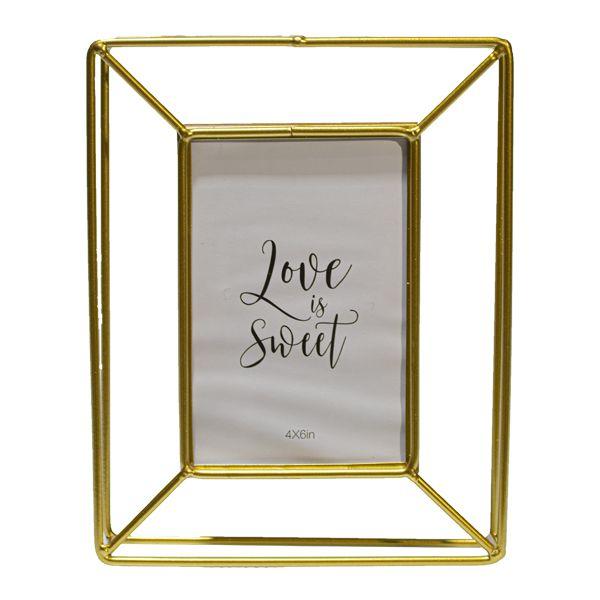 Porta Retrato em Ferro Dourado Keep Simple  - Arrivo Mobile