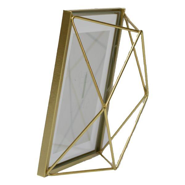 Porta Retrato em Vidro E Metal Dourado  - Arrivo Mobile