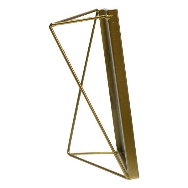 Porta Retrato Em Vidro E Metal Dourado Love Dream  - Arrivo Mobile