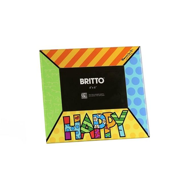 Porta Retrato Felicidade Romero Britto 22x1x24cm  - Arrivo Mobile
