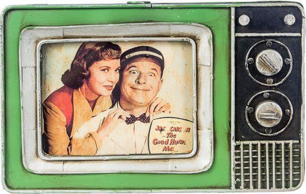 Porta Retrato Ferro Mini Tv Verde Oldway 25x23x3cm  - Arrivo Mobile