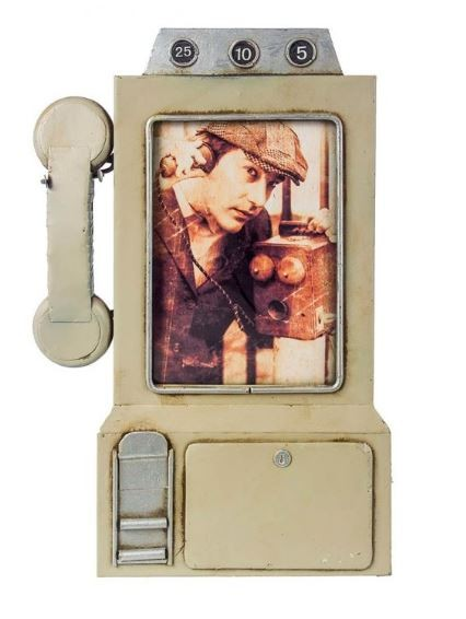 Porta Retrato Telefone Cinza  - Arrivo Mobile