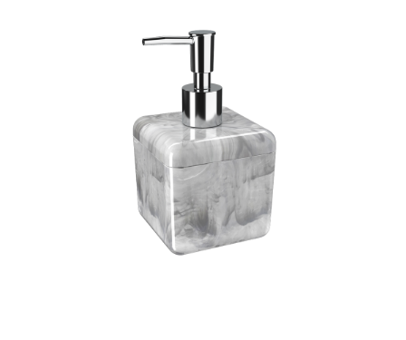 Porta-sabonete líquido Cube 330 ml cor Mármore Branco  - Arrivo Mobile