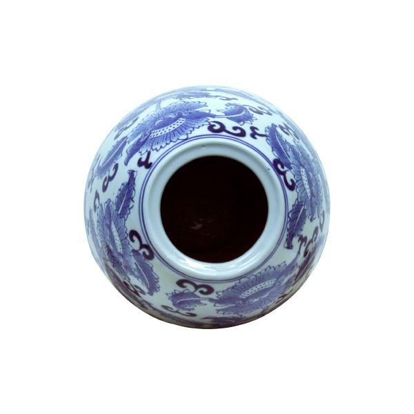 Pote De Porcelana Oval Com Tampa Oldway 51X21X21Cm  - Arrivo Mobile