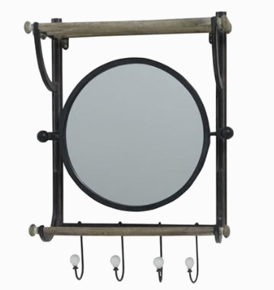 Prateleira Com Cabide E Espelho Oldway 62x46,5x17,5cm  - Arrivo Mobile