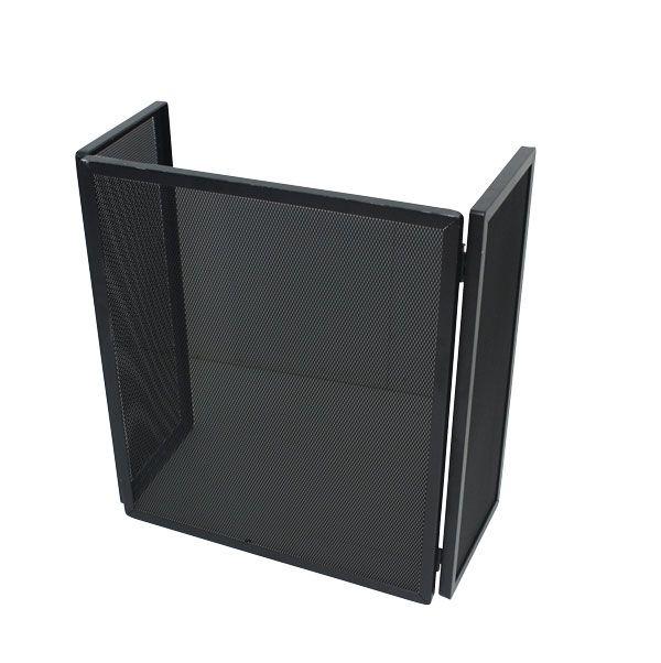 Proteção De Lareira Alta Preta Em Ferro Fullway 60x52x27cm  - Arrivo Mobile
