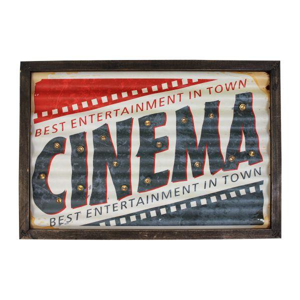 Quadro em Metal com Led Cinema Oldway 30x43x4cm  - Arrivo Mobile