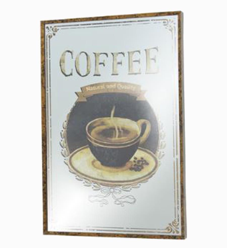 Quadro Espelhado Coffee Oldway 60x40x3,5cm  - Arrivo Mobile