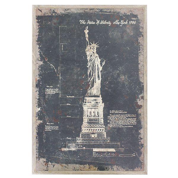 Quadro Estatua Da Liberdade  - Arrivo Mobile