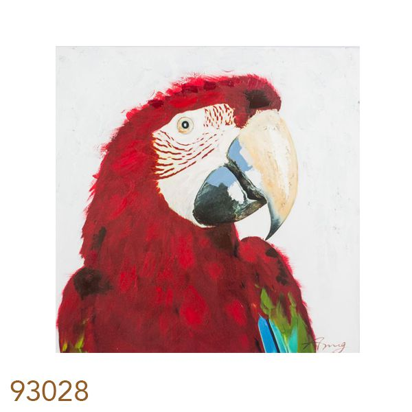 Quadro Pintura Arara Vermelha  - Arrivo Mobile