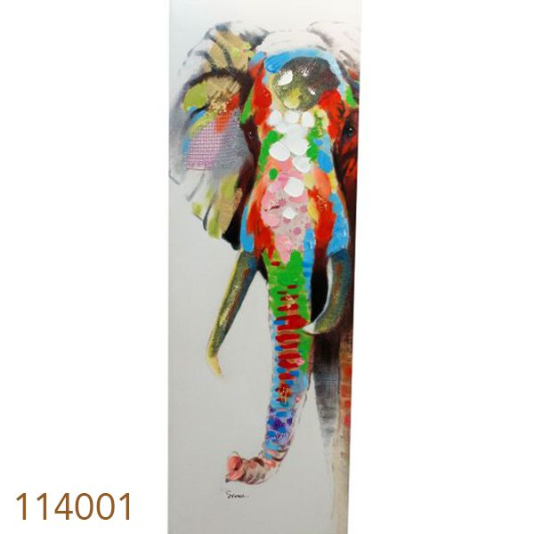 Quadro Pintura Elefante  - Arrivo Mobile