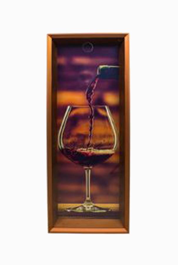 Quadro Porta Rolhas Taça Vinho  - Arrivo Mobile