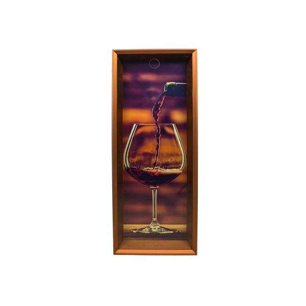 Quadro Porta Rolhas Taça Vinho 90x35x7cm  - Arrivo Mobile