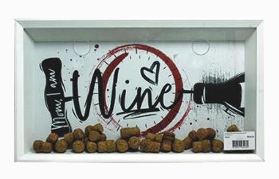 Quadro Porta Rolhas Wine Desenho  - Arrivo Mobile