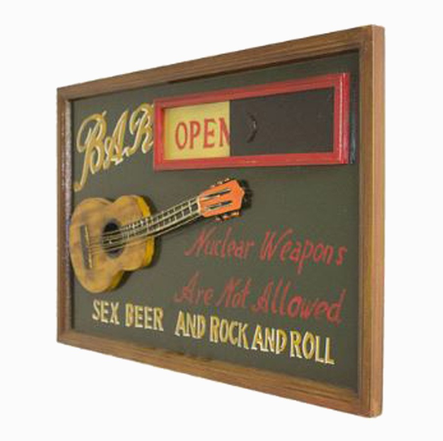Quadro Sex Beer And Rock Open/Cloused 40x60x3cm  - Arrivo Mobile