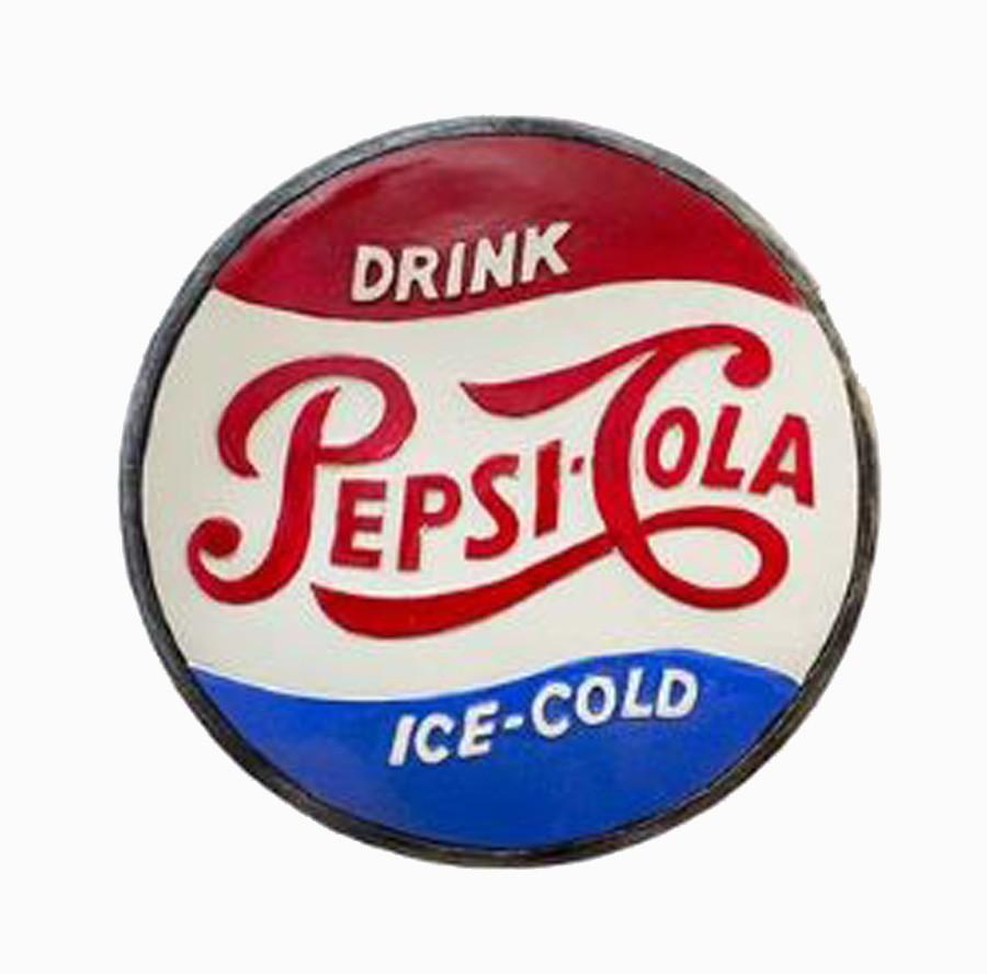 Quadro Tampa Pepsi D=35 35x35x8cm  - Arrivo Mobile