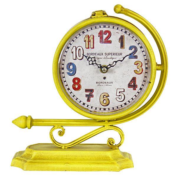 Relógio Amarelo Duas Faces  - Arrivo Mobile
