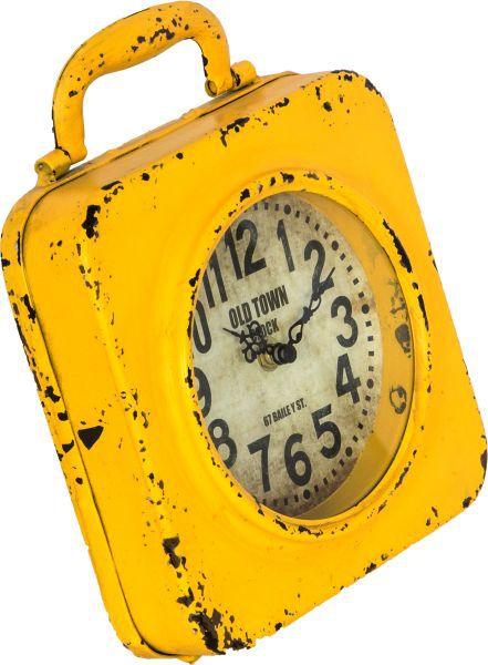 Relógio Amarelo Em Ferro Oldway  - Arrivo Mobile
