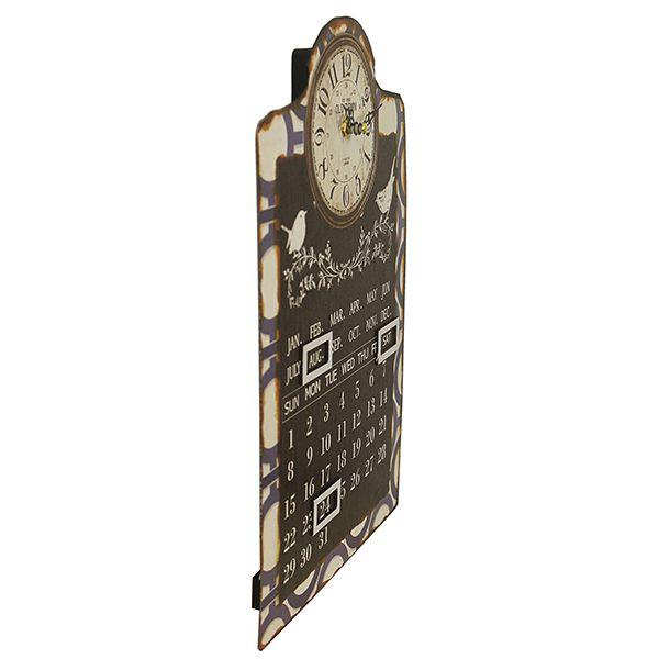 Relógio Com Calendário Blue Birds Oldway 38x25x4cm  - Arrivo Mobile