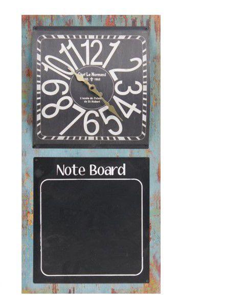 Relógio Com Quadro Negro Note Board Oldway 60x30x4cm  - Arrivo Mobile
