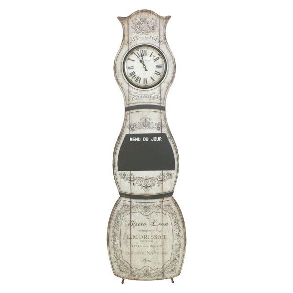 Relógio De Chão Com Quadro Negro  - Arrivo Mobile