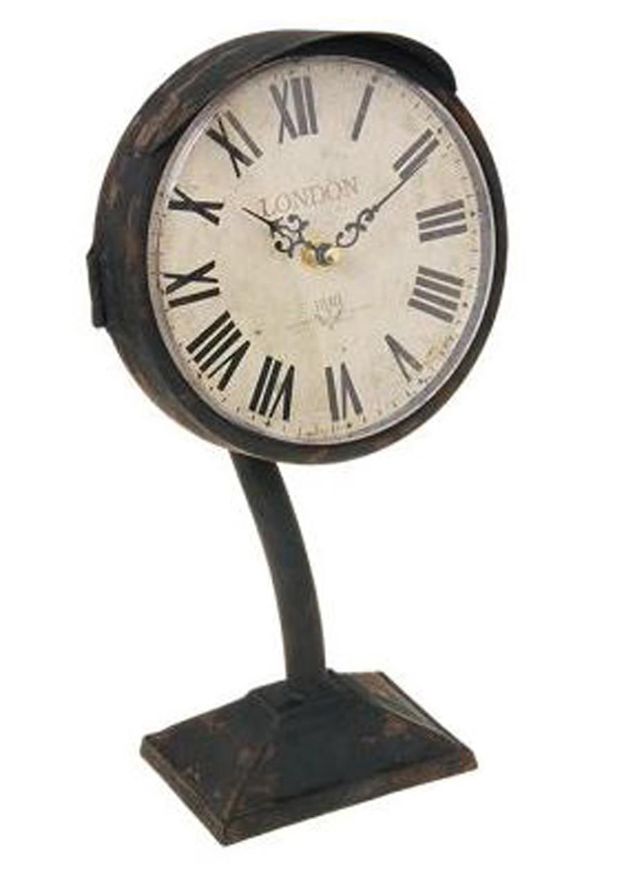 Relógio De Mesa Antigo Em Ferro 32x16x8cm  - Arrivo Mobile